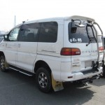 Delica petrol white rear