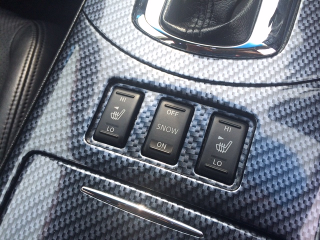 V36 sedan 350GT Type SP seat heater and snow buttons