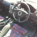 2002 Mitsubishi Galant VR-4 S turbo interior steering wheel