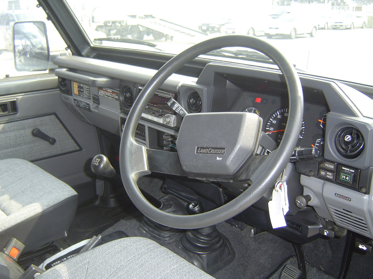 1989 Toyota Landcruiser BJ74 4WD steering wheel