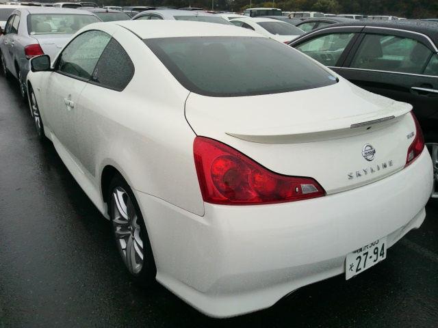 2010 Nissan Skyline V36 coupe rear