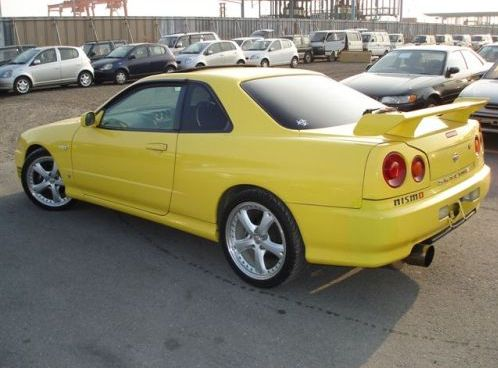 1998 Nissan Skyline R34 GT-T coupe rear