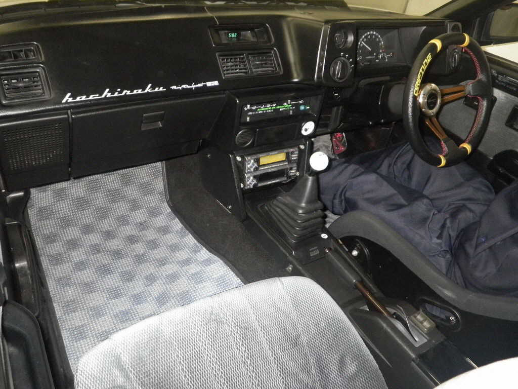 1987 Toyota Sprinter GT APEX interior