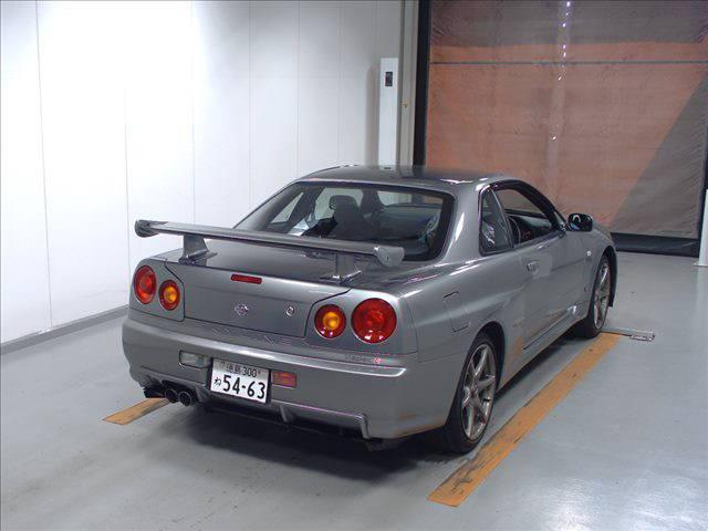 2000 Nissan Skyline R34 GTR V Spec 2 silver auction rear 2