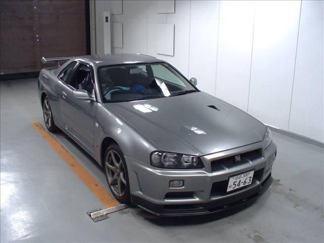 2000 Nissan Skyline R34 GTR V Spec 2 silver front 1