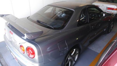 2000 Nissan Skyline R34 GTR V Spec 2 silver rear