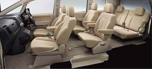Mitsubishi Delica D5 interior cutaway seat layout