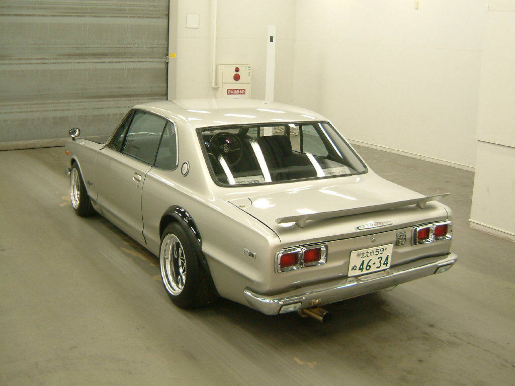 1972 Nissan Skyline KGC10 2000GT coupe GTR replica rear