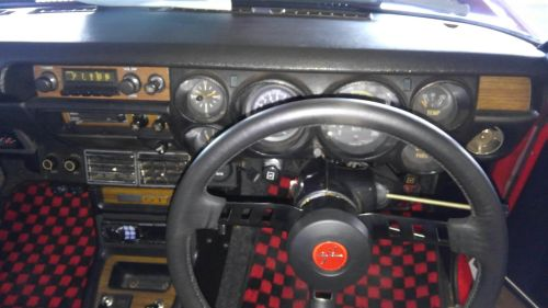 1971 Nissan Skyline KGC10 coupe GT-X steering wheel and gauges