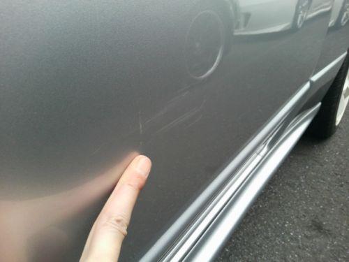 1992 Nissan Skyline R32 GTR silver door scratches