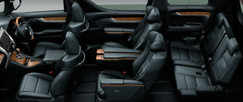 Toyota Alphard and Vellfire 30 Series Executive Lounge seat colour