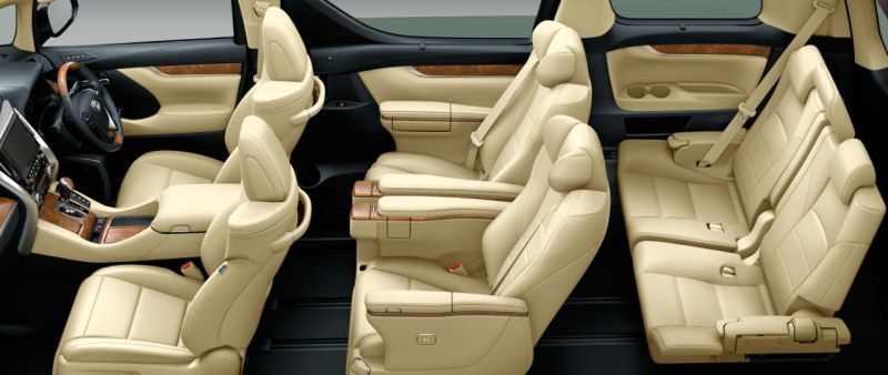 Toyota Alphard and Vellfire 30 Series HYBRID Executive Lounge seat colour