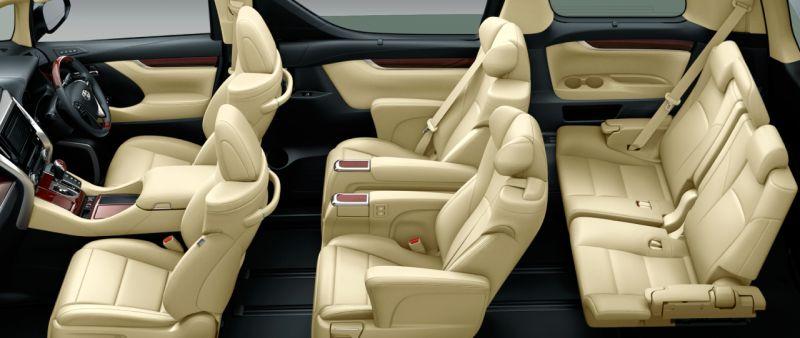 Toyota Alphard Hybrid 30 Series and Vellfire Hybrid 30 Series HYBRID V L EDITION seat colour
