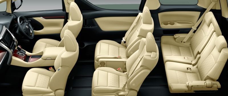 Toyota Alphard Hybrid 30 Series and Vellfire Hybrid 30 Series HYBRID X seat colour