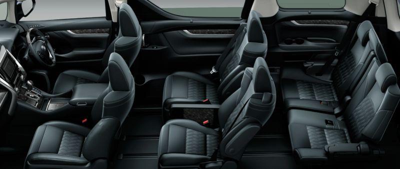 Toyota Alphard Hybrid 30 Series and Vellfire Hybrid 30 Series HYBRID ZR seat colour