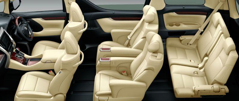 Toyota Alphard Hybrid 30 Series and Vellfire Hybrid 30 Series VL seat colour