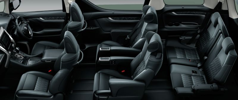 Toyota Alphard and Vellfire 30 Series Z G EDITION seat colour
