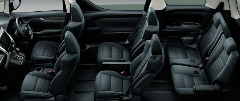 Toyota Alphard and Vellfire 30 Series Z seat colour
