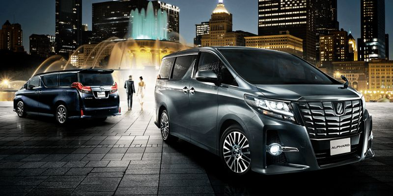 New Toyota Alphard front and rear 800px