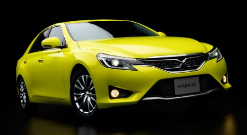 Toyota Mark X import special yellow front