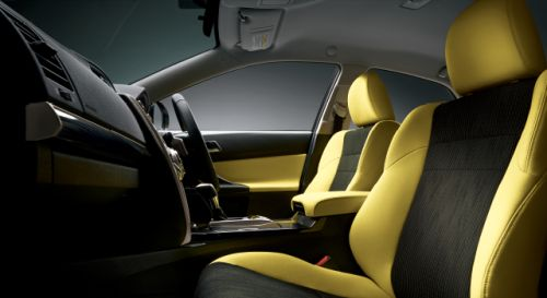 Toyota Mark X import special yellow interior 2