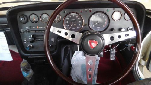 1968 Mazda Cosmo Sports L10A coupe steering wheel close up