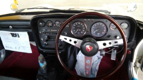 1968 Mazda Cosmo Sports L10A coupe steering wheel