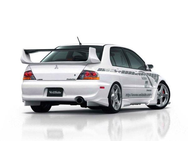 2004 mitsubishi lancer evo 8 veilside rear