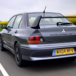 2004 Mitsubishi Lancer EVO 8 grey rear