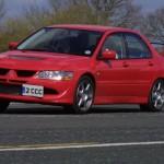 2004 Mitsubishi Lancer EVO 8 red track