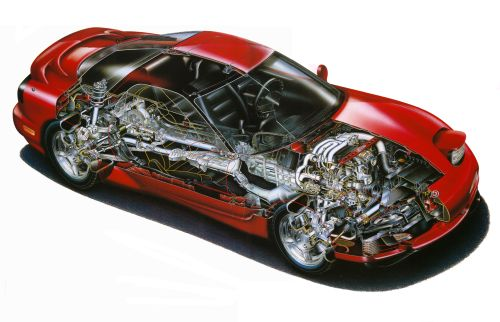 Mazda RX-7 Import cutaway