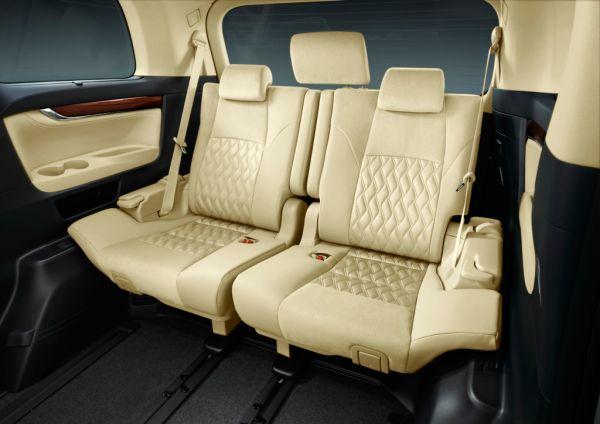 Toyota Vellfire Hybrid V L Edition 4WD (ATH20W) rear interior