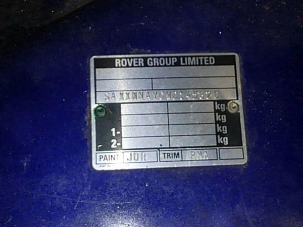 1997-rover-mini-cooper-build-plate-vin
