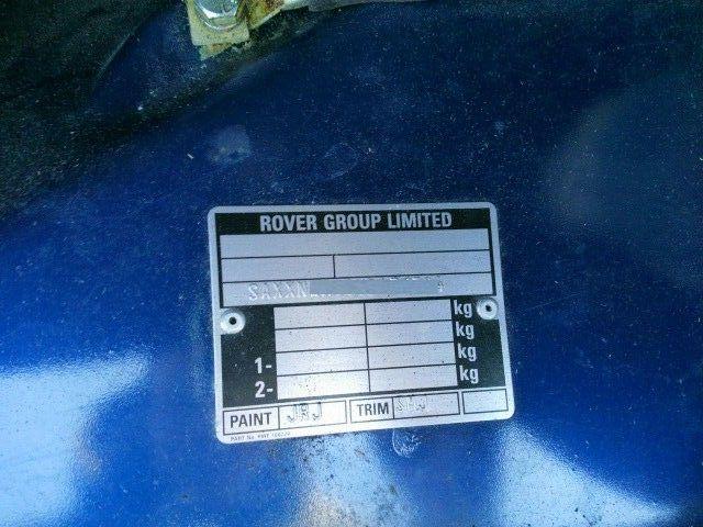 1999 Rover Mini Cooper chassis code