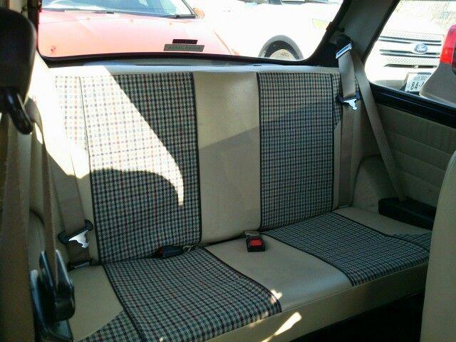 1999 Rover Mini Cooper rear seat