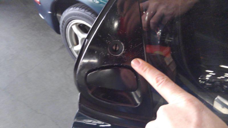 1992 Mazda RX-7 Type R door jam
