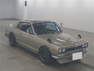 Hakosuka 1971 Nissan Skyline KGC10 coupe auction front