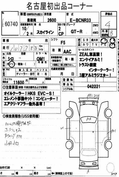 1998 Nissan Skyline R33 GTR auction report
