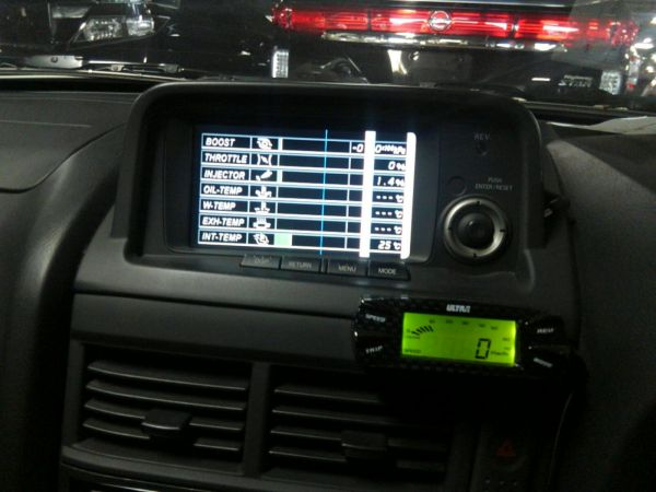 2001 Nissan Skyline R34 GTR VSPEC TV screen