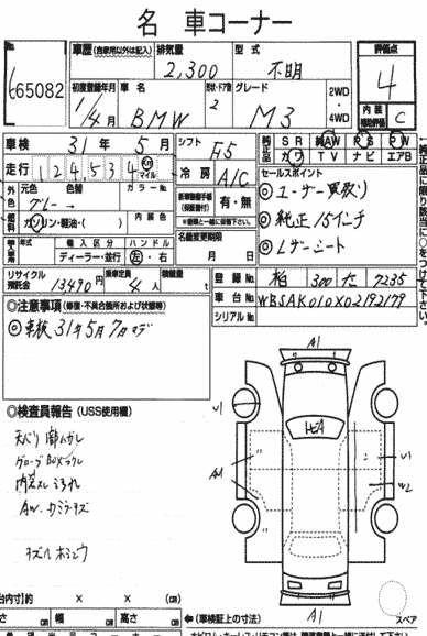 1988 BMW E30 M3 auction report