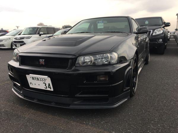 1999 Nissan Skyline R34 GT-R VSpec black left front