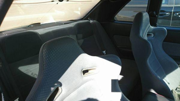 2000 Nissan Skyline R34 GTR VSpec rear seat