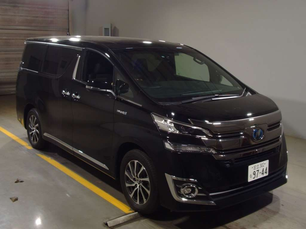 2015 TOYOTA VELLFIRE HYBRID AYH30W 2.5L 4WD EXECUTIVE LOUNGE black