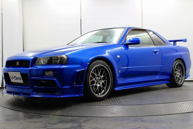 2001 R34 GTR VSpec II Bayside Blue auction 2 front