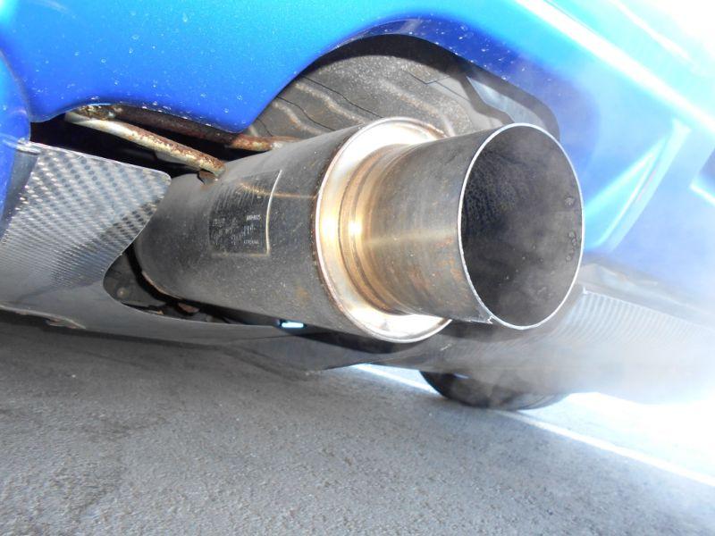 2001 R34 GTR VSpec II Bayside Blue exhaust 2 a