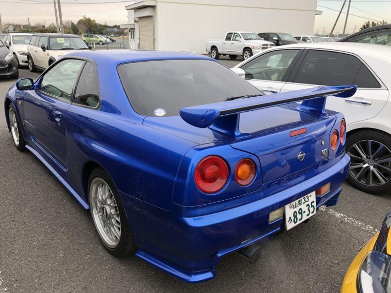 1999 Nissan Skyline R34 GTR VSpec Bayside Blue left rear