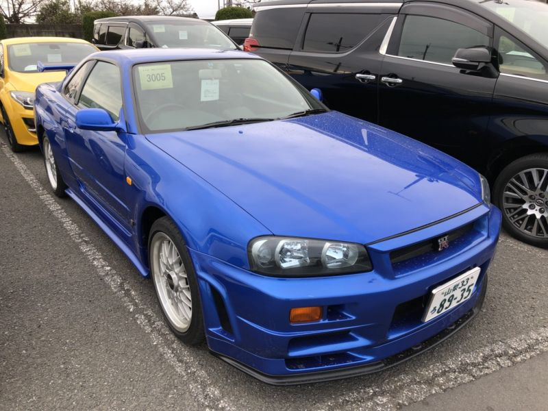 1999 Nissan Skyline R34 GTR VSpec Bayside Blue right front