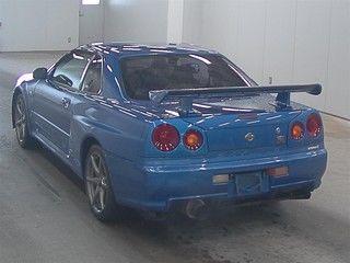 2001 Nissan Skyline R34 GT-R VSpec 2 auction rear