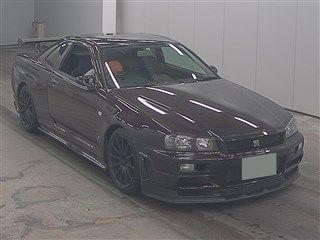 1999 Nissan Skyline R34 GTR VSpec MP2 auction front