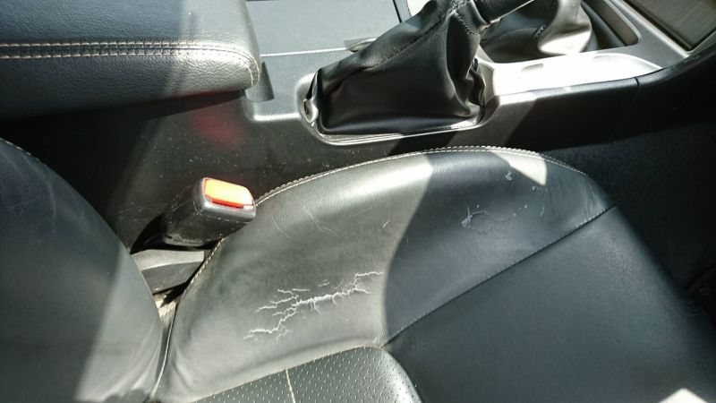 2002 Nissan Skyline R34 GTR MSpec seat damage